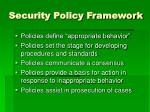 security policy framework