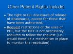 other patient rights include