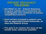 patient advocacy program93