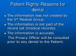 patient rights reasons for denial
