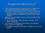 suspected misconduct
