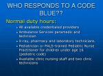 who responds to a code blue