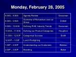 monday february 28 2005