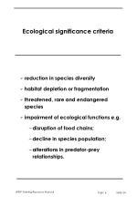 ecological significance criteria