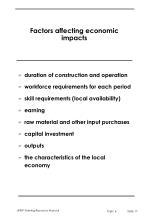 factors affecting economic impacts