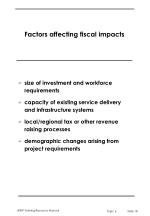 factors affecting fiscal impacts