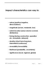 impact characteristics can vary in