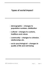 types of social impact