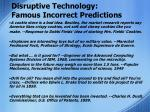 disruptive technology famous incorrect predictions5