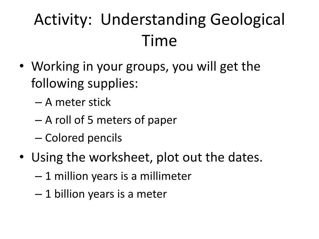 Activity:  Understanding Geological Time