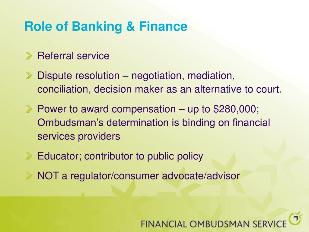 Role of Banking & Finance