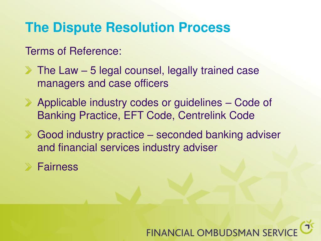 The Dispute Resolution Process