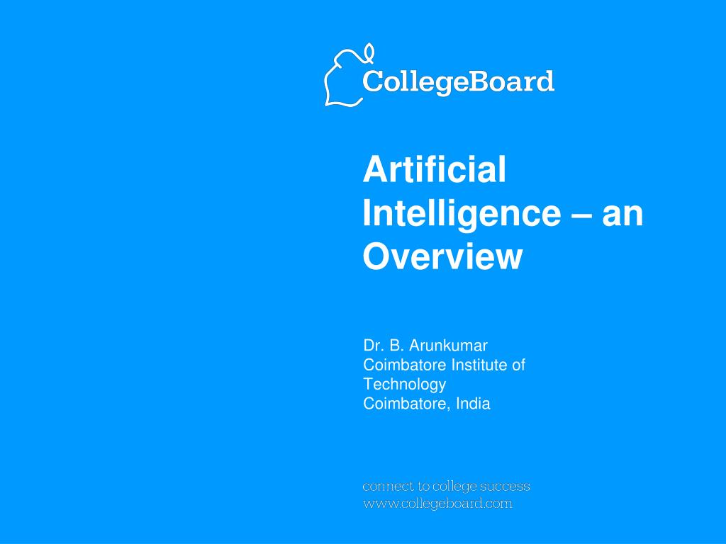 artificial intelligence an overview l.
