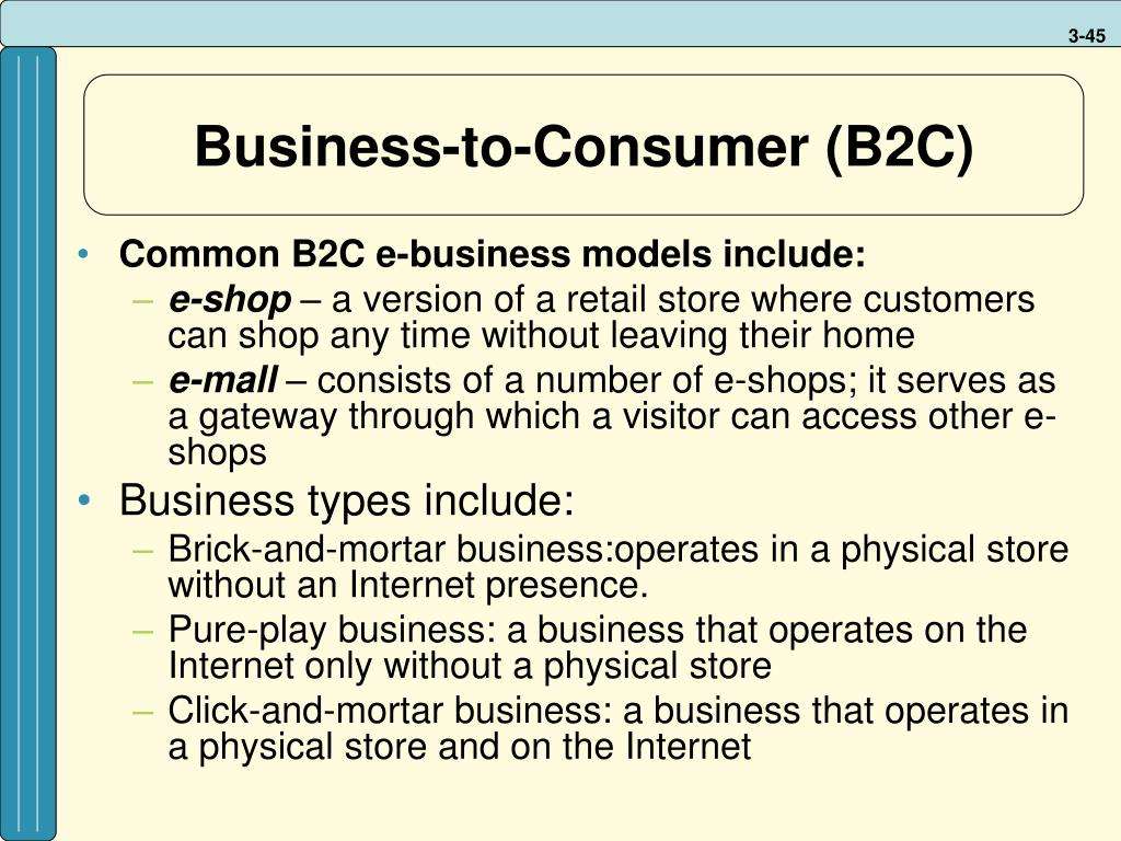 Business-to-Consumer (B2C)