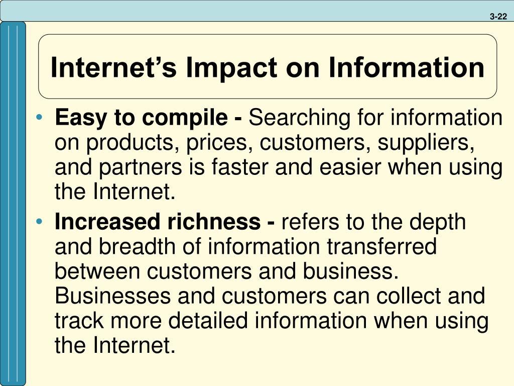 Internet's Impact on Information