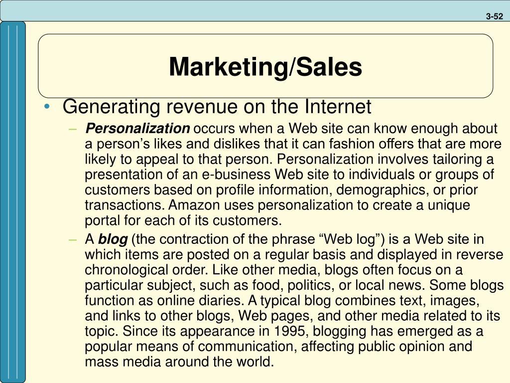 Marketing/Sales