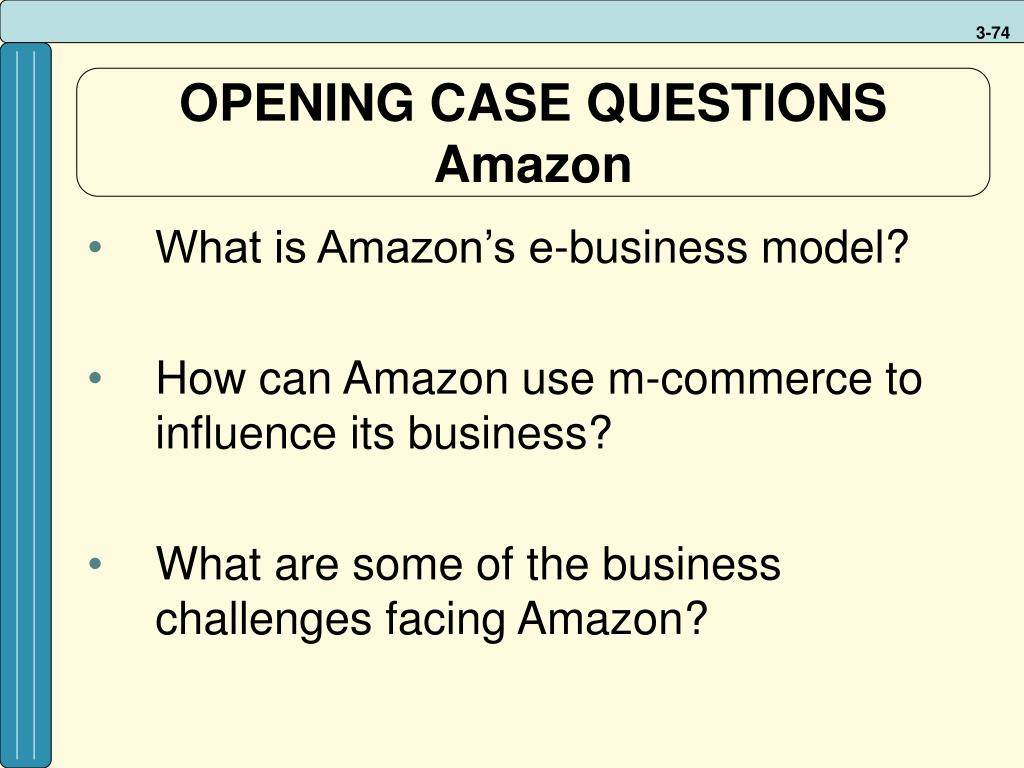 OPENING CASE QUESTIONS
