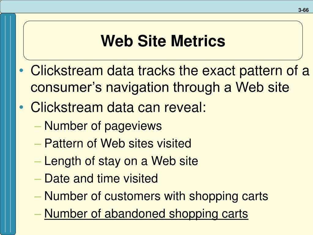 Web Site Metrics