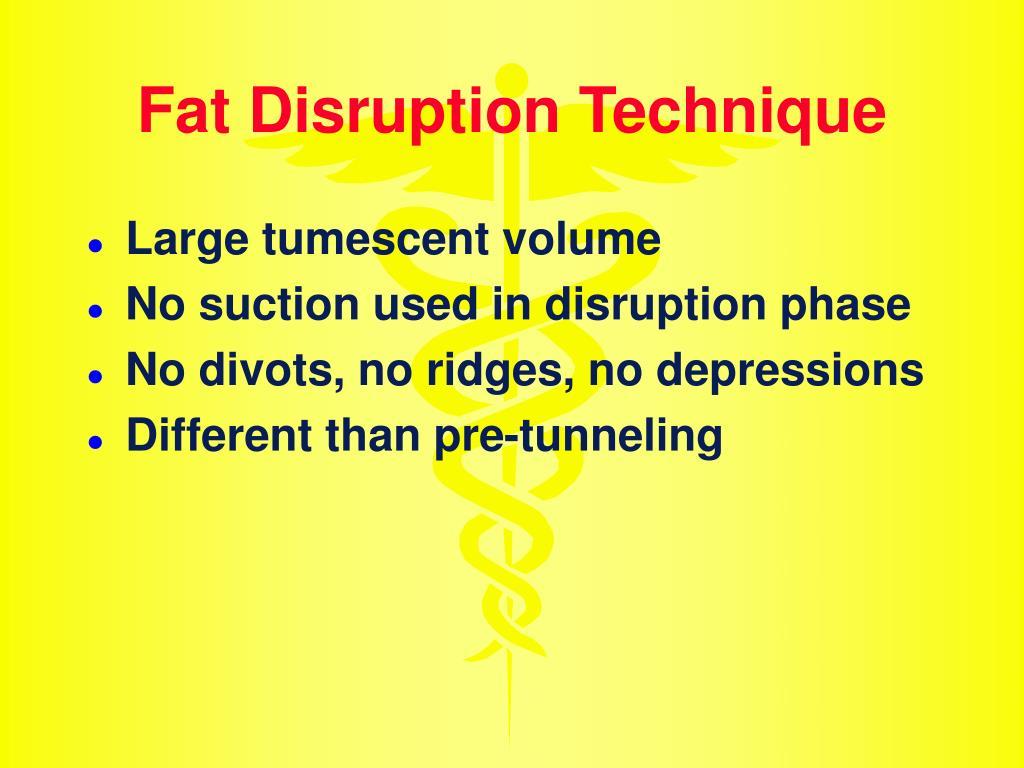 Fat Disruption Technique