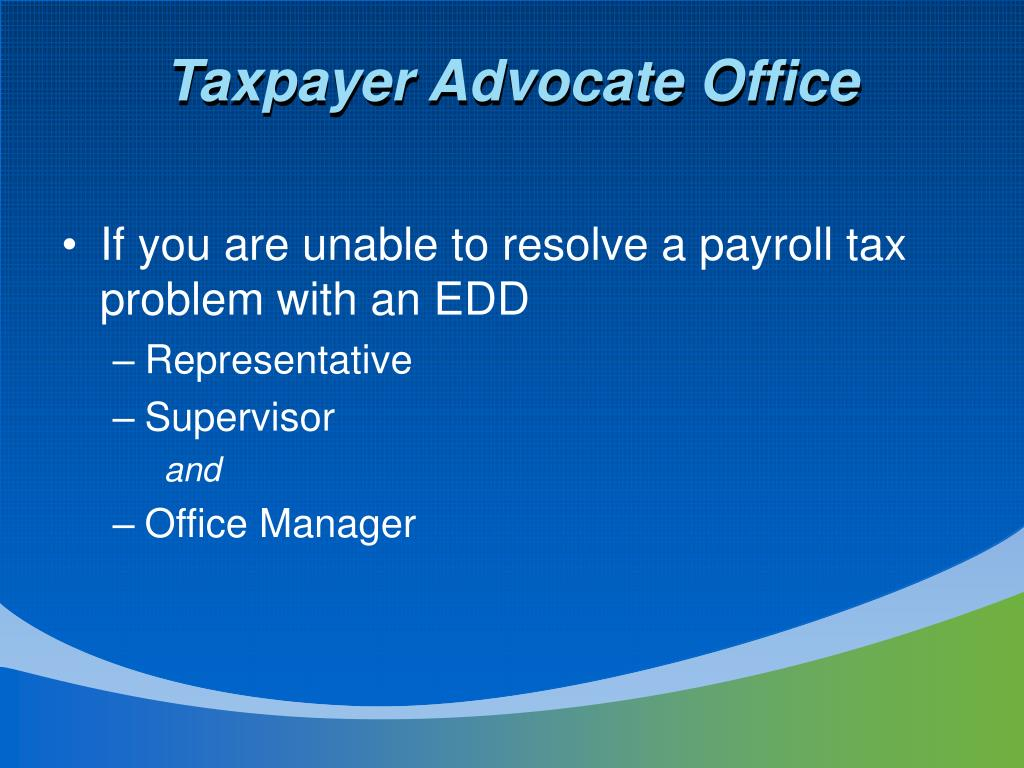 Taxpayer Advocate Office
