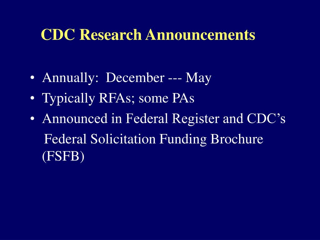 CDC Research Announcements