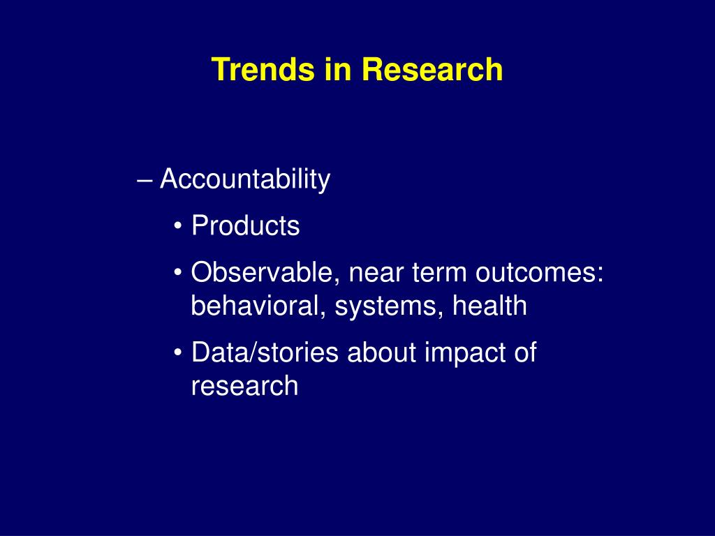 Trends in Research