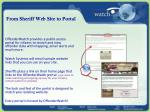 from sheriff web site to portal