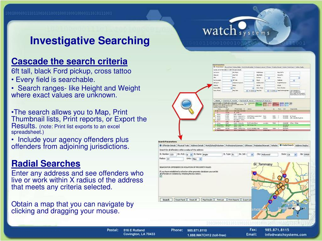 Investigative Searching