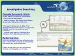 investigative searching