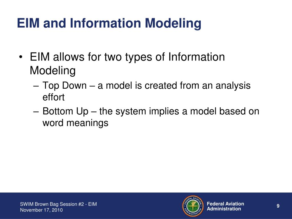 EIM and Information Modeling