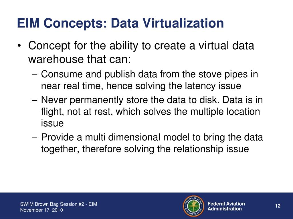 EIM Concepts: Data Virtualization