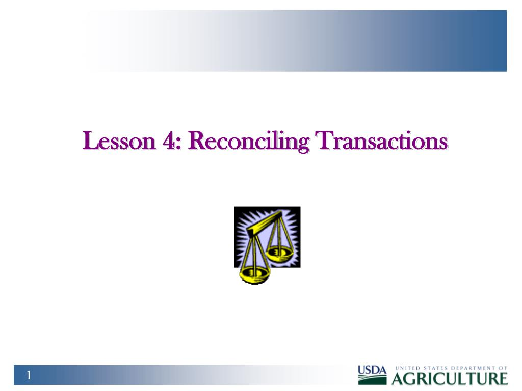 lesson 4 reconciling transactions
