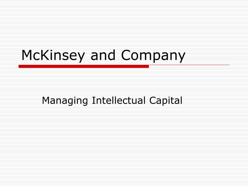PPT - McKinsey and Company PowerPoint Presentation - ID:269118