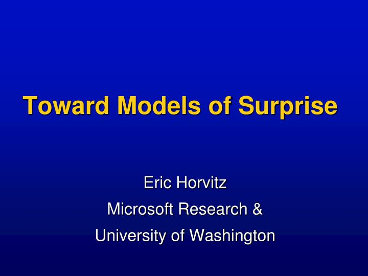 toward models of surprise n.