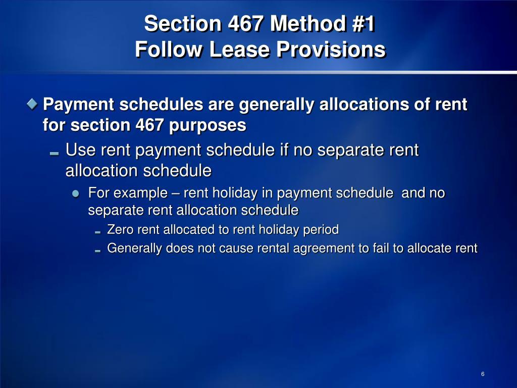 Section 467 Method #1