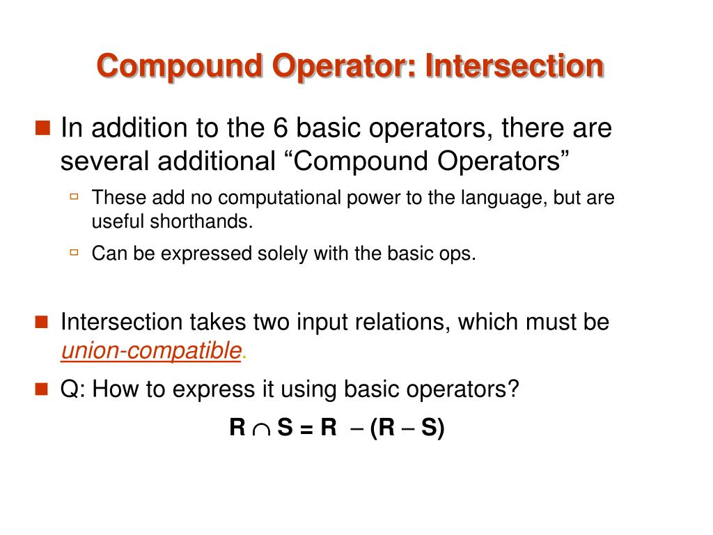 Compound Operator: Intersection