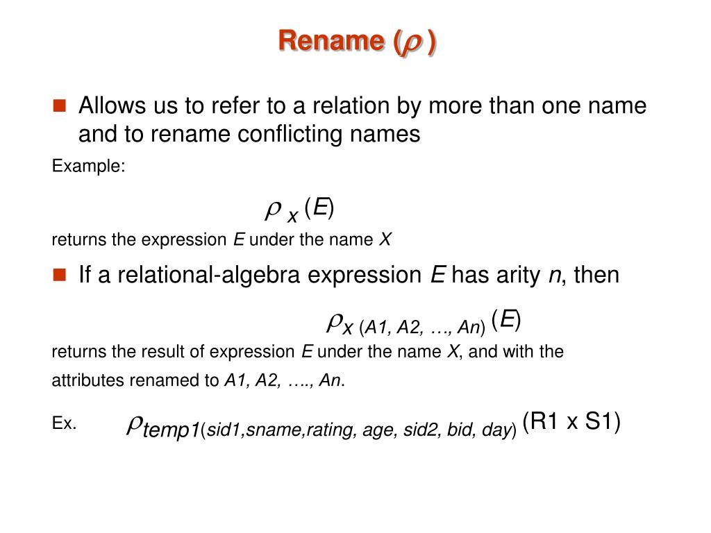 Rename (