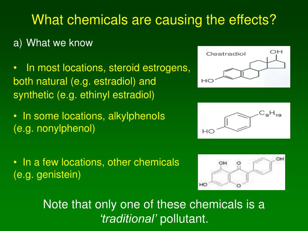 What chemicals are causing the effects?