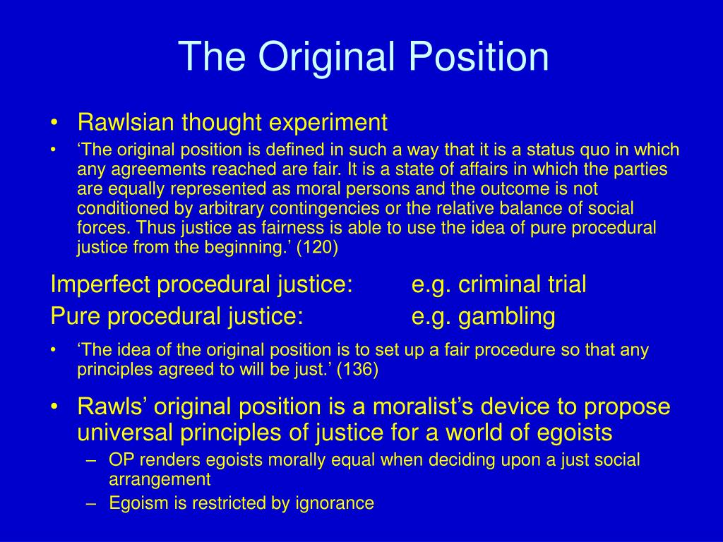 rawls original position