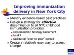 improving immunization delivery in new york city
