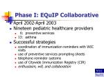 phase i equip collaborative