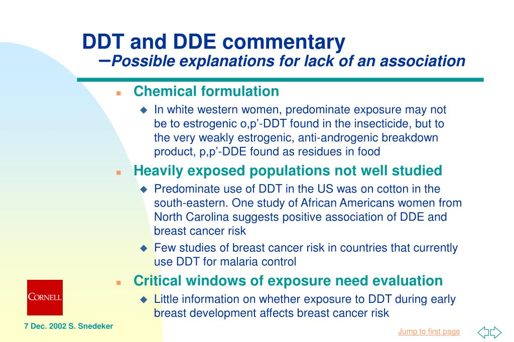 DDT and DDE commentary