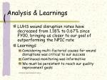 analysis learnings