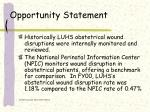 opportunity statement