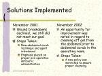 solutions implemented6