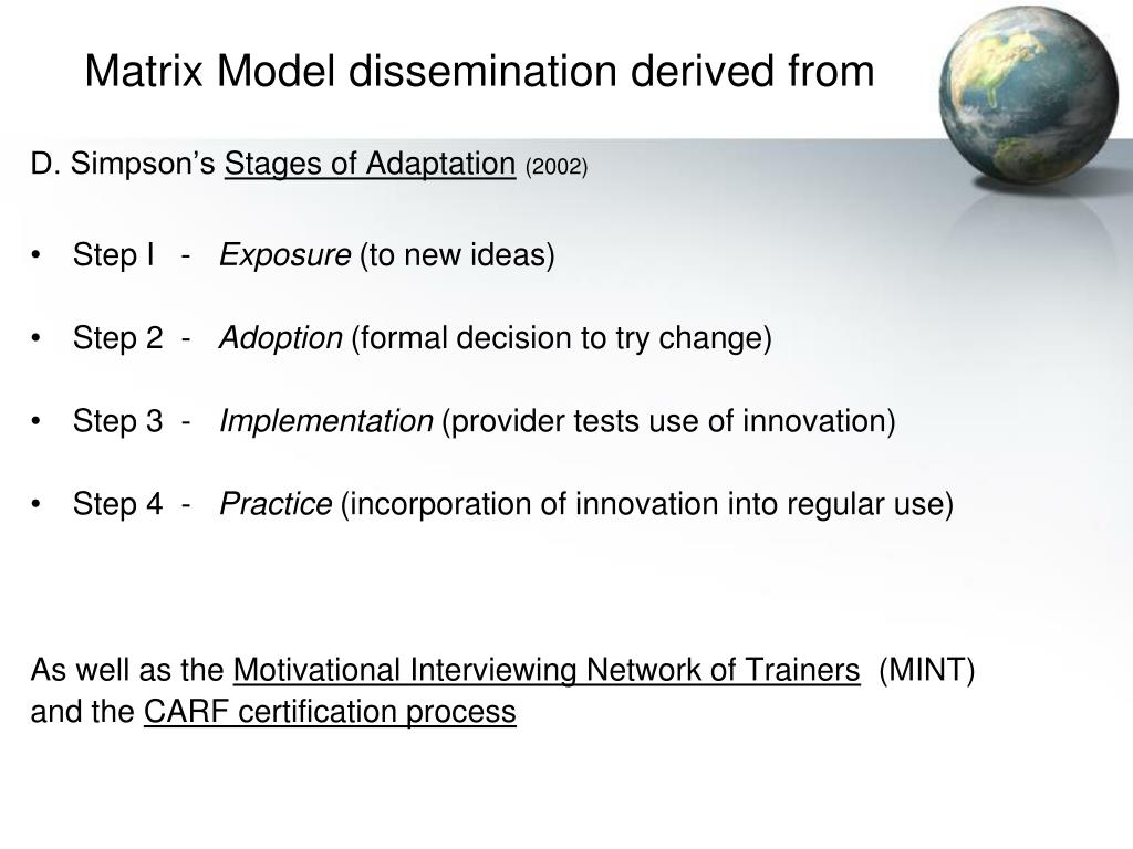 Matrix Model dissemination derived from