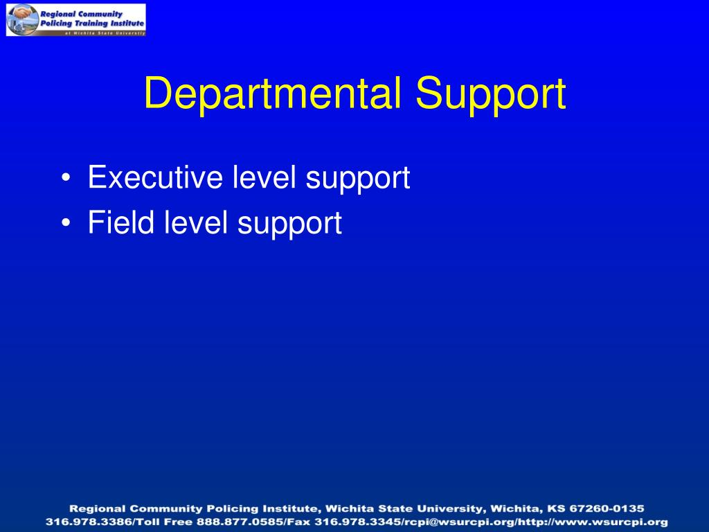 Departmental Support