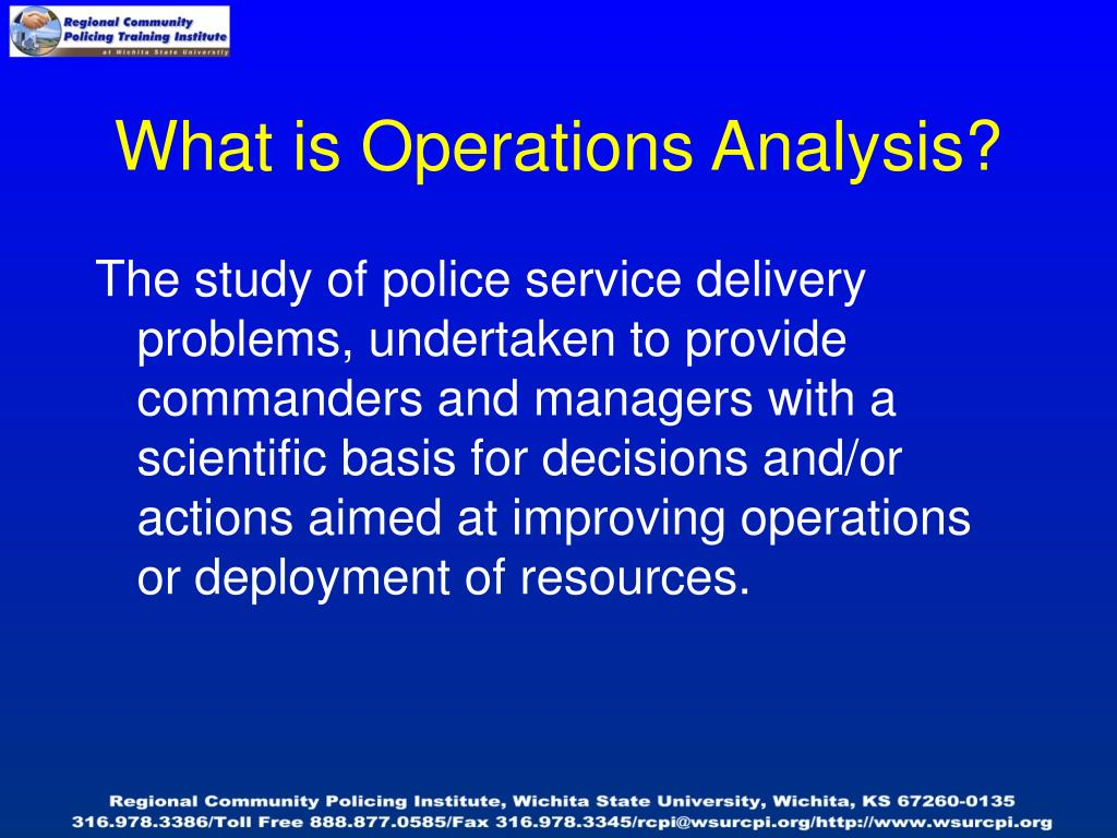 What is Operations Analysis?