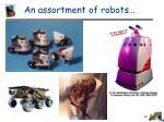 an assortment of robots