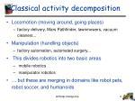 classical activity decomposition